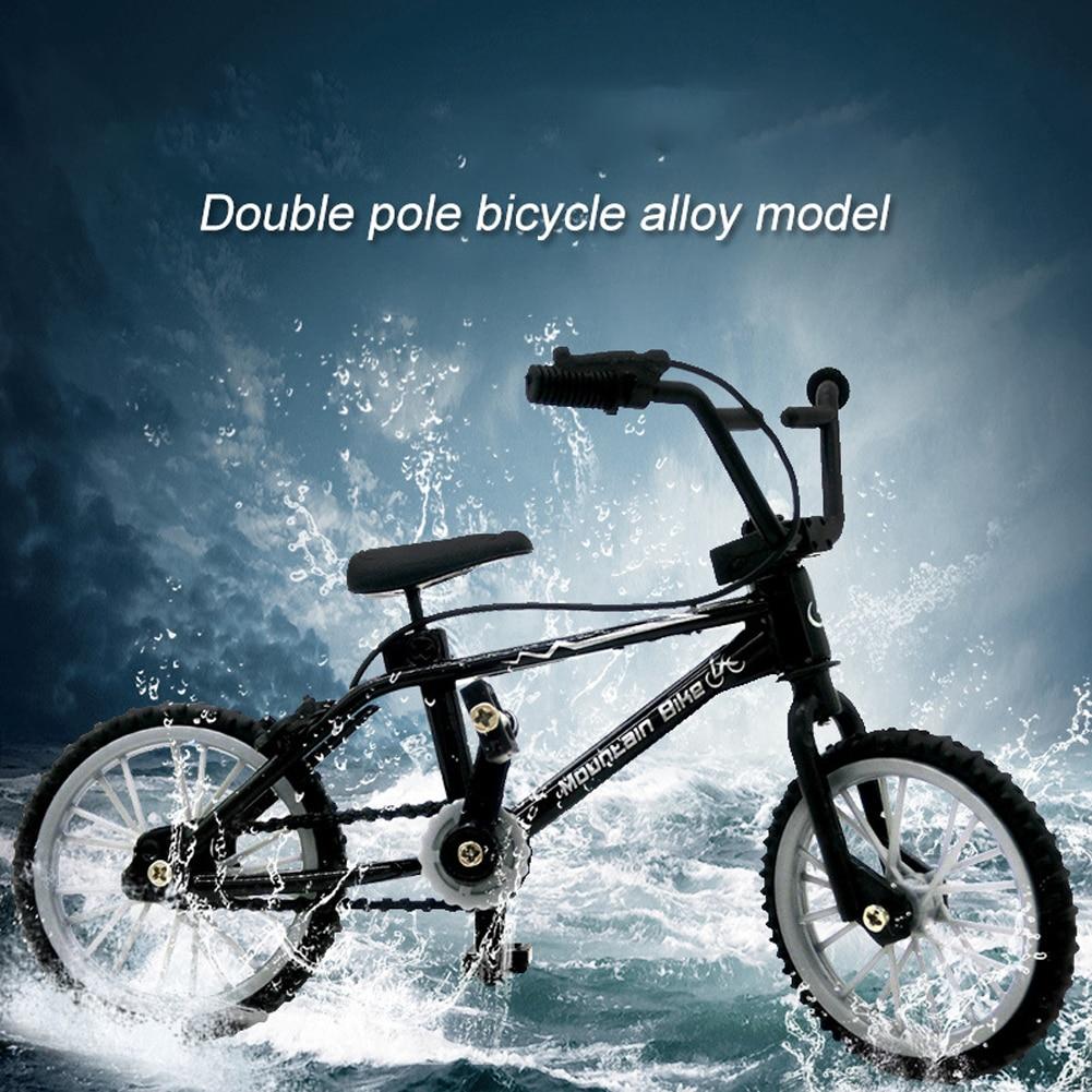 Mini dedo juguetes de bicicleta creativa aleación dedo bicicleta de montaña niños adulto BMX fixy bicicleta moto de dedo juguete regalo Welly 1:24 Cadillac Escalade, coche en miniatura de aleación, vehículos de juguete para hacer Diecast y coleccionar, regalos, juguete de transporte de tipo no mando a distancia