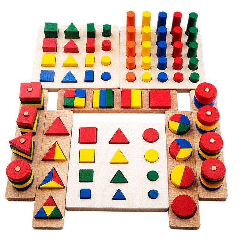 8 Sets of Sensory Teaching Aids Kindergarten Early Childhood Children advantage Shape Board Family