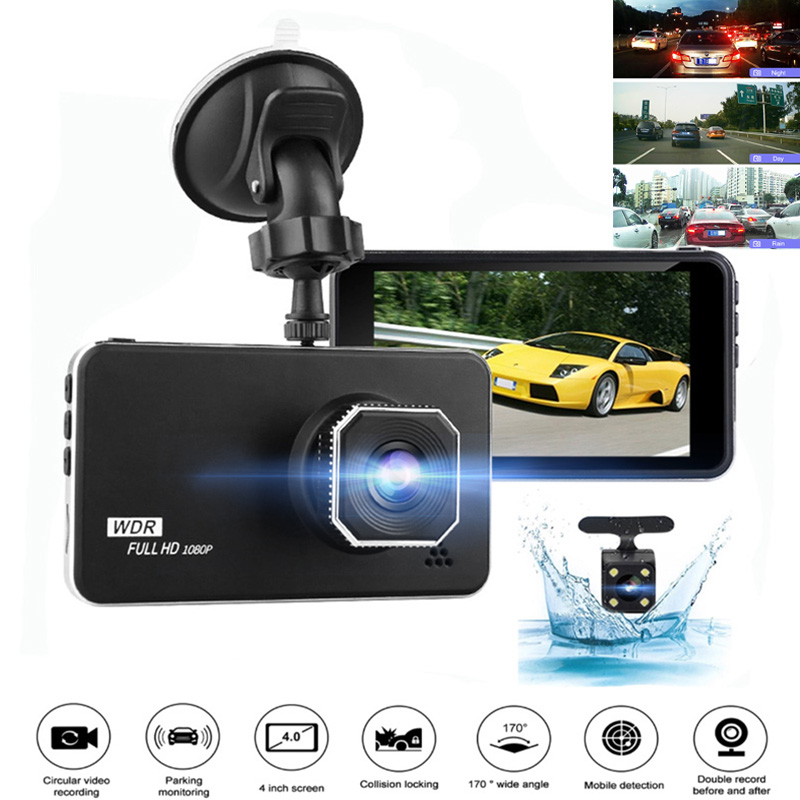 <font><b>Car</b></font> <font><b>Camera</b></font> <font><b>DVR</b></font> 4 <font><b>inch</b></font> Full HD 1920x1080P WDR Dash Cam Dual Lens Night Vision Parking Monitor Dashcam G-sensor AK-L62C image