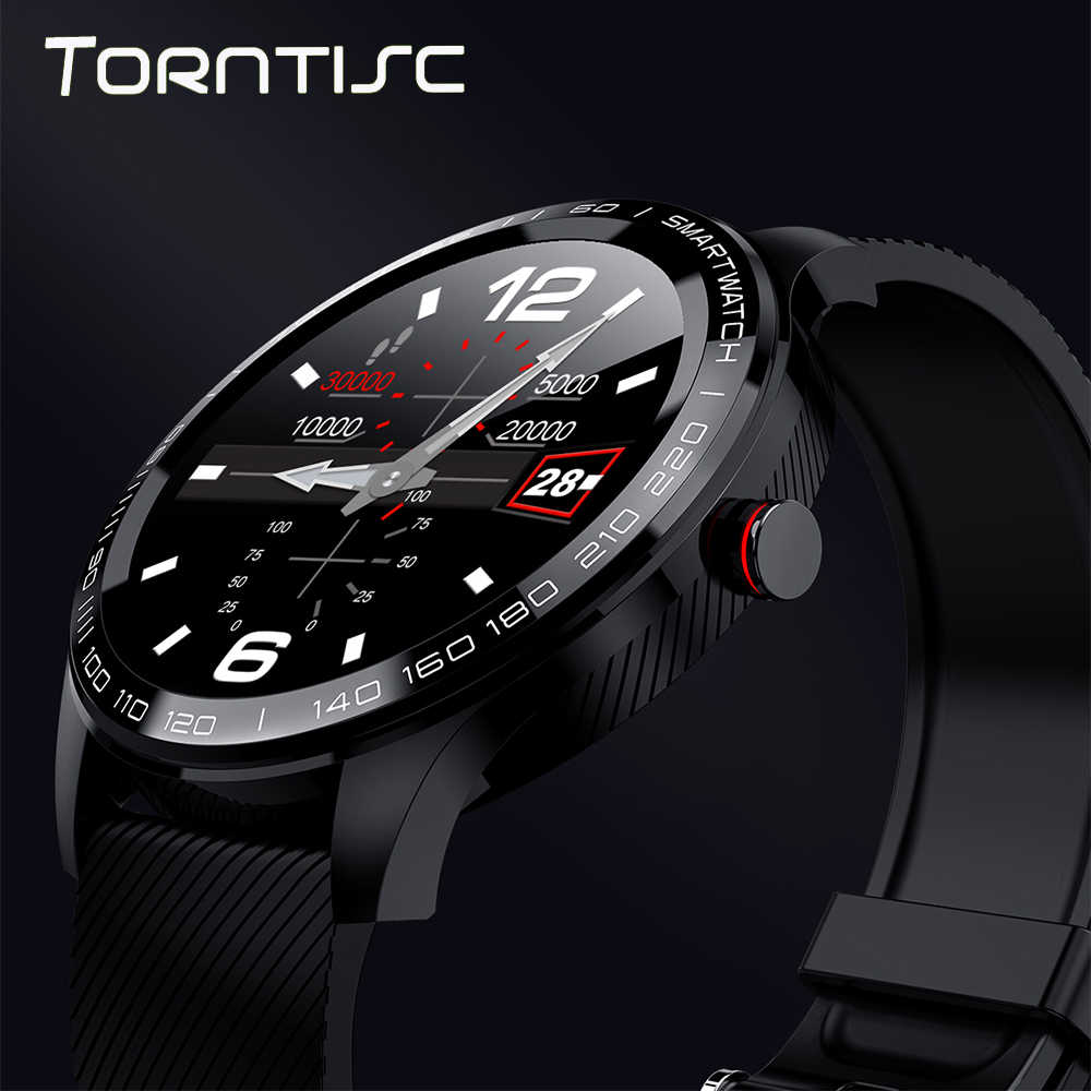 Torntisc Smart Watch ECG Heart Rate Calls Reminder Full Touch Smartwatch IP68 Waterproof Watch Men Android IOS PK GT2