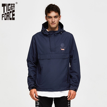虎力男性ジャケット春カジュアルジャケットパーカーフード付きジャケットサイドポケットコートヨーロッパサイズ