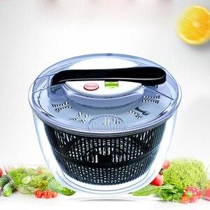 Овощерезка с чашей салат-Спиннер большой прозрачный миксер миска для фруктов и овощей моющий контейнер кухонный инструмент Салатница реза...