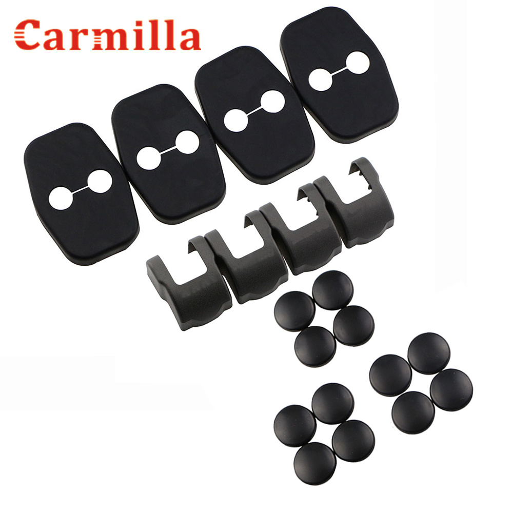 ABS Car Door Stopper Cover Car Door Lock Doors Screw Covers Sticker For Peugeot 308 408 208 2008 3008 For Citroen C4 Parts