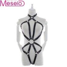 Meselo Lingerie Ladies Sexy Open Back Leather Cross Binding Clothes Belt Bdsm Sex Erotic Toys Bondage Slave Sex Toys For Couples