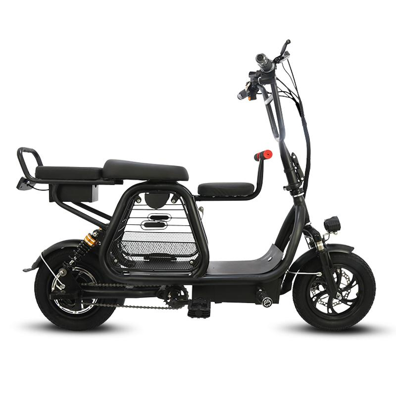 Spor ve Eğlence'ten Elektrikli Bisiklet'de Katlanabilir elektrikli Scooter 400W iki tekerlekli elektrikli bisiklet evcil hayvan sepeti 48V 12 inç E bisiklet Scooter pembe bayanlar kadınlar için title=