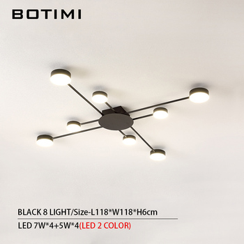 BOTIMI Novelty Metal Irregular Ceiling Lights For Foyer Black Ceiling Lamp Golden Surface Mounted Bedroom Lighting Fixture 16