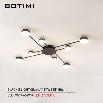 BOTIMI Novelty Metal Irregular Ceiling Lights For Foyer Black Ceiling Lamp Golden Surface Mounted Bedroom Lighting Fixture 16