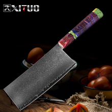 XITUO Chinesische Küche Messer Damaskus Stahl 67 Schicht Kochmesser Sharp Hackmesser Slicing Gemüse Hause Kochen Werkzeuge Farbe Griff