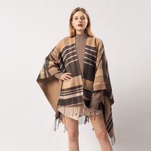 Womens scarves are popular in autumn and winter. Plaid fringed imitation cashmere is versatile with extra thick warm shawls