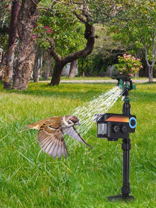 Deterrent-Tools Sprinkler Scarecrow Animal-Repeller Activated Solar-Powered Garden-Motion