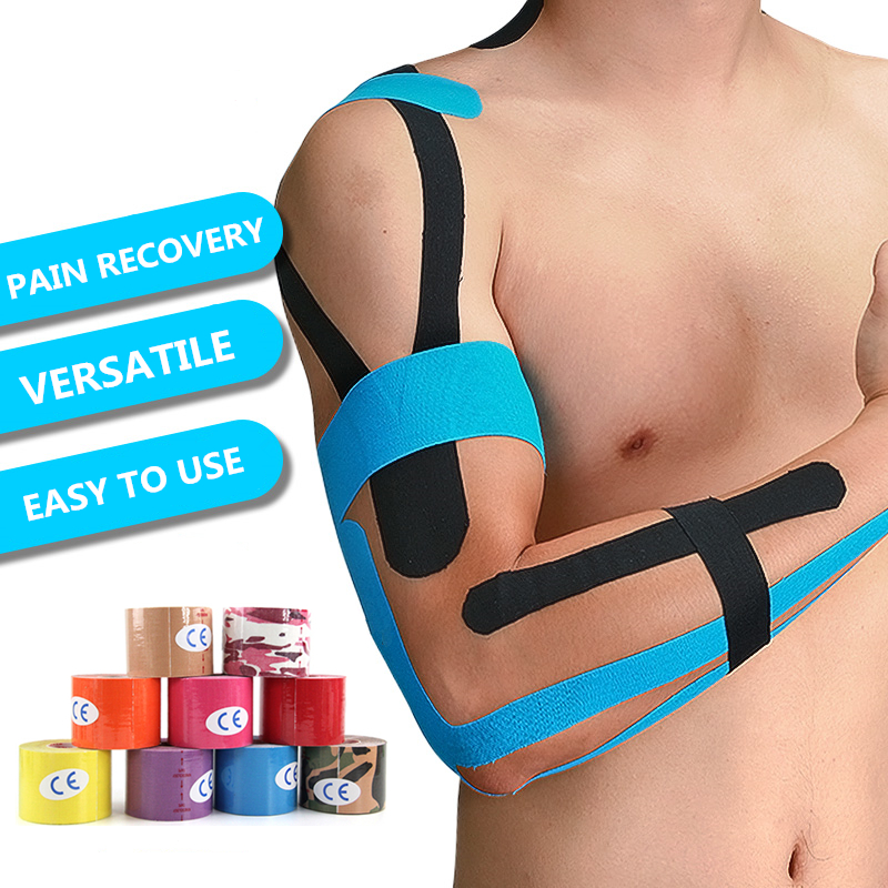 Kinesiology Tape Athletic Sports Tapes Rolls Knee Elbow Protector Waterproof Muscle Bandage Elastic Muscle Wristband