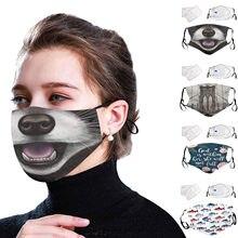 Máscara de rosto adulto com 2 pçs fliters rosto máscara de boca ajustável esporte ao ar livre máscara de capa de boca mascarillas mondkapjes mаmи и