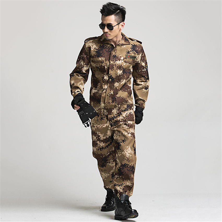 Military Uniform Tactical Camouflage Combat Clothing Men Army Special Forces Soldier Training Work Wear Adult Clothes Pant Set 2