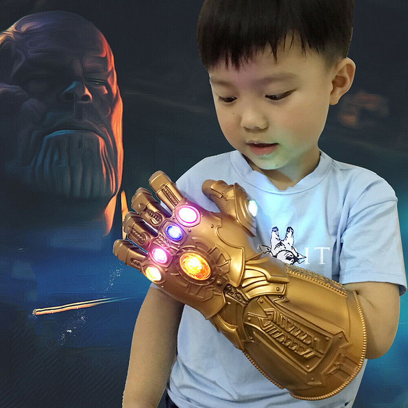 Infinity Gauntlet Glove Costume-Props Thanos Led Halloween Avengers Endgame Cosplay Kids