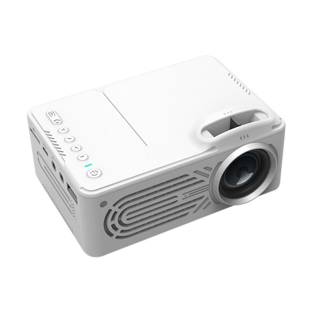 814 Mini Micro Portable Home Entertainment Projector Supports 1080P Hd Mobile Phone Connection Projector White Color