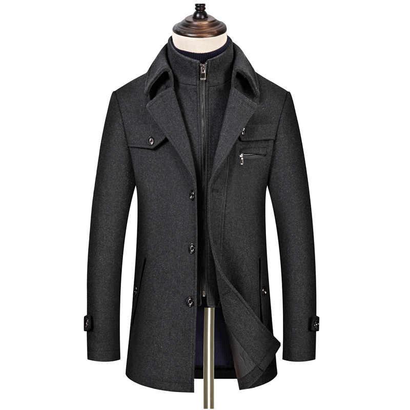 BOLUBAO 브랜드 울 혼합 코트 남자 겨울 새로운 남자의 고품질 두꺼운 캐주얼 울 코트 패션 와일드 울 오버 코트 남성