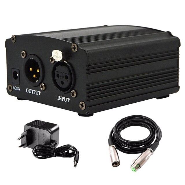 48V Dc Phantom Power Supplyของแท้ProfessionalสำหรับStudio Recording Condenserไมโครโฟนคอมพิวเตอร์Eu Plug