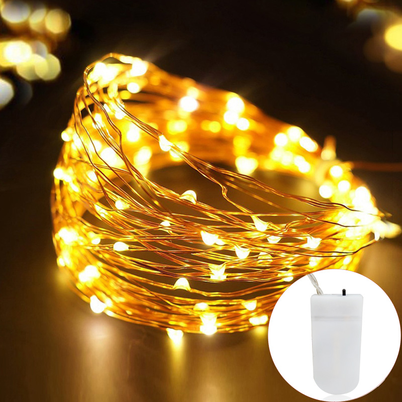 1m 2m 3m 5m 10m Copper Wire Led String Lights Holiday Lighting Fairy Garland For Christmas Tree Wedding Party Decoration Mega Deal 80dc6 Cicig