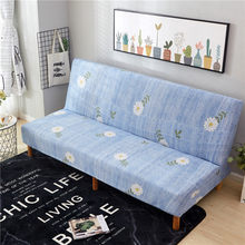 Strakke Wrap Ofa Cover Vouwen Sofa-Hoes Stretch Plaid Antislip Couch Funiture Print Slaapbank Cover Zonder armsteun(China)