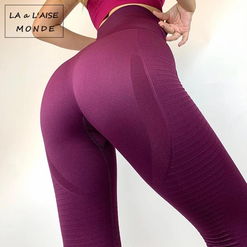Lucylizz calças de yoga das mulheres de fitness leggings esportes correndo collants calças esportivas push up calças de ginásio roupas malha atlético