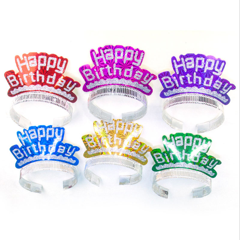 Birthday Party Hats For Kids,Children,Adult Birthday Supplies,Letter Crown Cap For Children's Birthday Party Hat