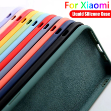 Жидкий силиконовый чехол для Xiaomi Mi 11 10S 10T 10 Pro Lite Poco X3 NFC M3 Redmi Note 9 10 Pro Max 9T 9S