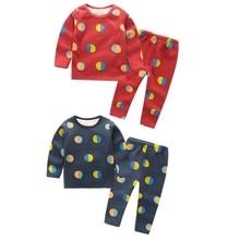 Осенне-зимняя повседневная детская бархатная пижама с длинными рукавами и принтом воздушных шаров комплект детской одежды из 2 предметов