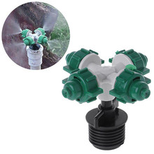 Sproeikop Water Sproeier Cross Nozzle Buitendraad Connector Irrigatie Dropper Tuin Anti Drip Apparaat(China)