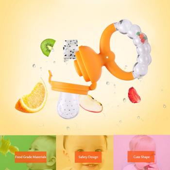 Świeże jedzenie Nibbler dziecko smoczki podajnik dzieci owoce sutki karmienie bezpieczne artykuły dla dzieci smoczek smoczek butelki zabawka uchwyt tanie i dobre opinie Silicone 3 miesięcy Stałe 3Size Pojedyncze załadowany Fruit vegetable