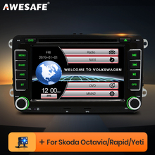 AWESAFE 2 Din 7 pouces voiture lecteur DVD Autoradio pour Skoda/Octavia/Roomster/Fabia/Yeti/siège/Altea/VW/Polo Autoradio GPS