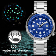 NH35 Mechanical Wristwatch 300m Dive Watch Mechanical Stainless Steel Sapphire C