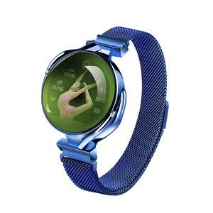 Image 3 - Mode Frauen Smart Uhr Wasserdicht Herz Rate Blutdruck Monitor Smartwatch Geschenk Für Damen Uhr Armband