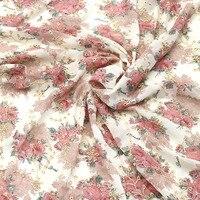 H726 tela estampada de gasa de 90*145cm Soluble Shabby Lace para chal de vestido, tela de boda bordada Diy materiales de artesanía y costura