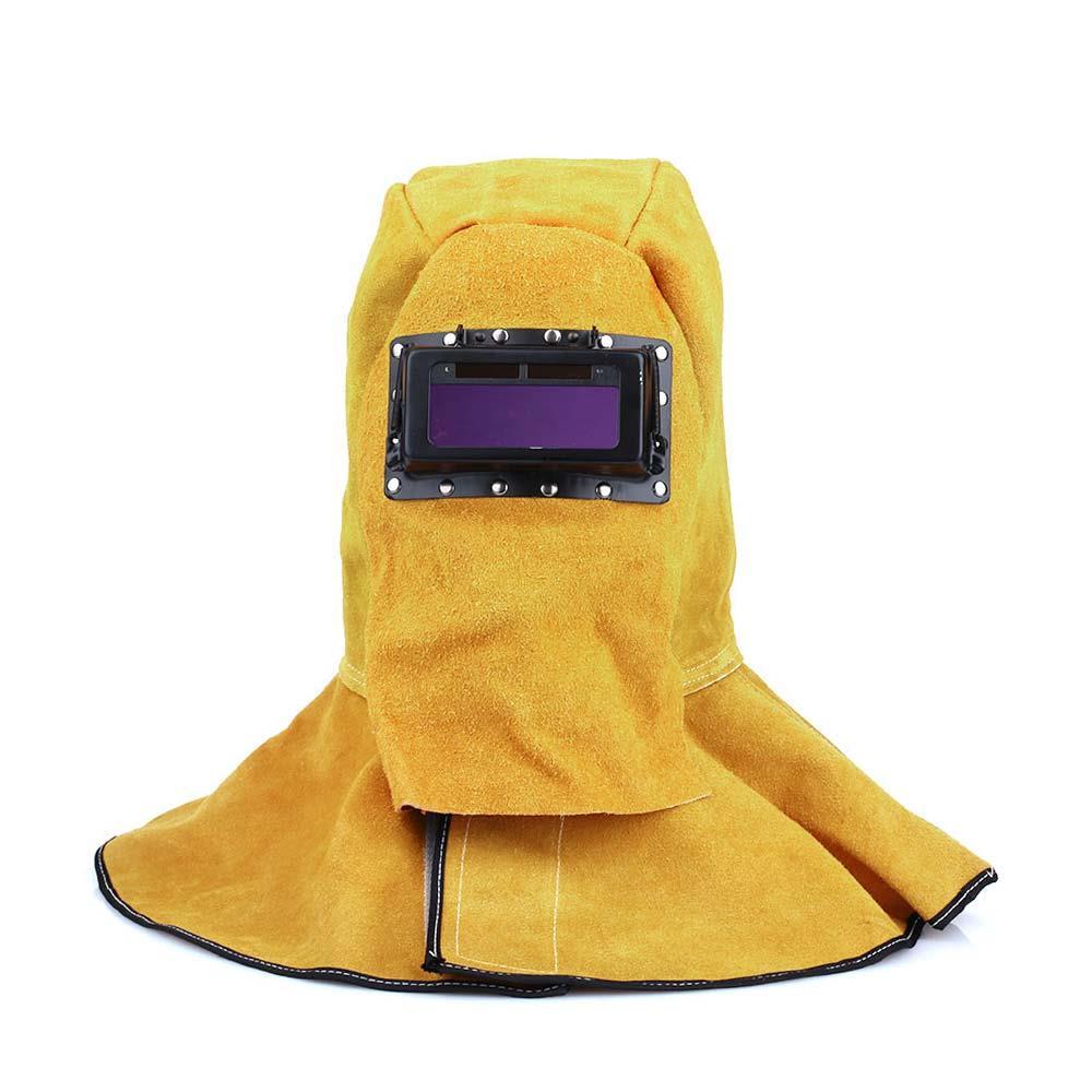 New Comfortable Leather Welder Welding Protective Gear Mask Work Cap Hood Helmet