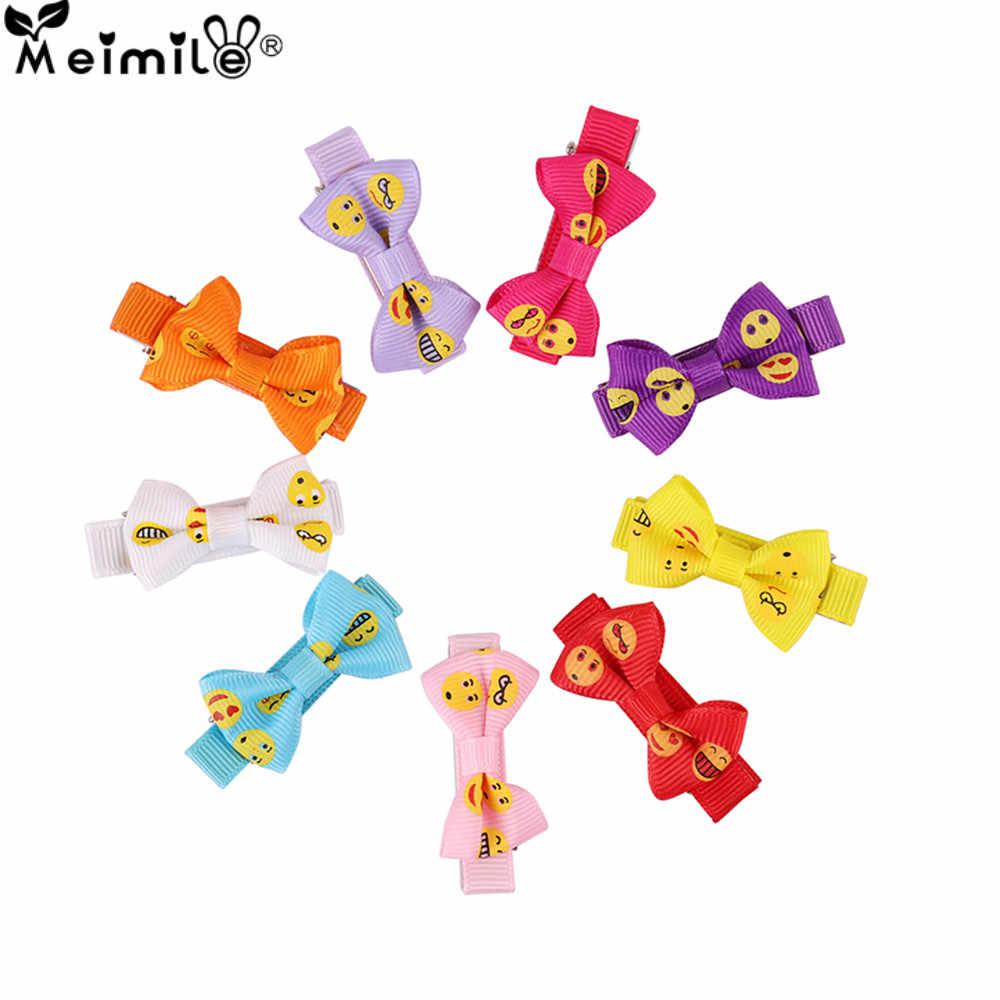Boutique à la main coloré enfantin solide ruban gros-grain arc en épingle à cheveux bijoux enfants fille cheveux accessoires