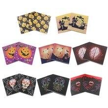 20 unids/pack feliz Halloween cráneo impreso calabaza papel servilleta desechable servilleta vajilla para Decoración de mesa de cena de Halloween