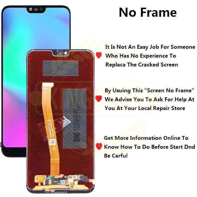 Image 3 - Para Honor 10 pantalla con marco para Huawei Honor 10 pantalla LCD Panel táctil con piezas de repuesto de ensamblaje de huellas dactilaresPantallas LCD para teléfonos móviles   -