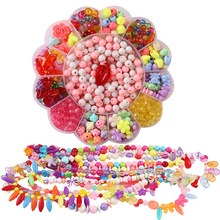 Beads Toys For Children with Accessory Set DIY Crystal Creative Material Hand-made Necklaces Bracelets Children's Gifts