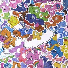 CA83 53pcs/set Care Bears DIY Skateboard Graffiti Laptop badge Motorcycle Luggage Bags Accessories