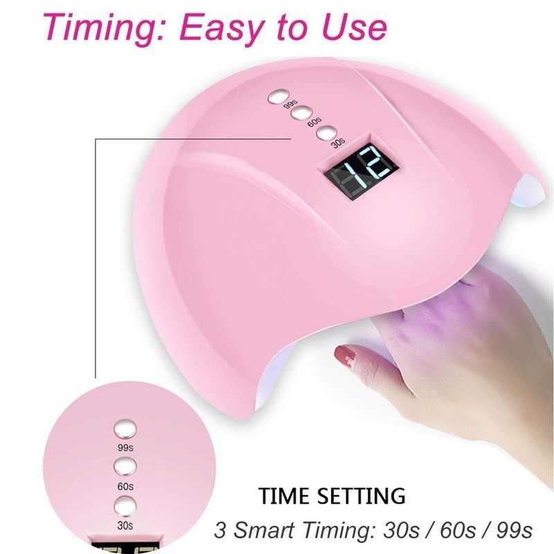 Livraison directe 120W LED UV vernis à ongles sèche Portable lampe Gel acrylique lumière Kit professionnel ongles intelligents