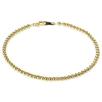 Classic Delicate 18K Solid Real Genuine Gold AU750 Bead Bracelets Bangles for Women Female Upscale Fancy Wedding Office Jewelry 1