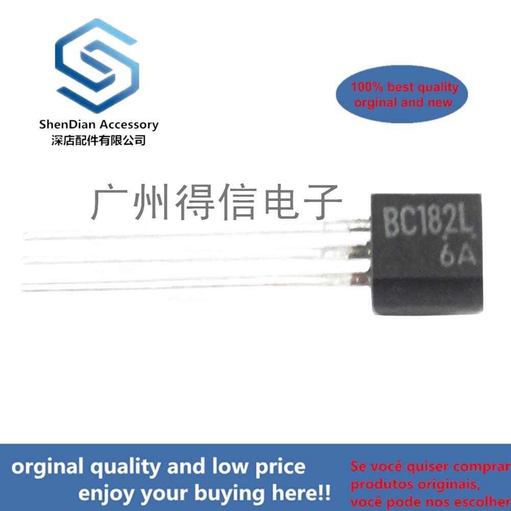 30pcs 100% Orginal New BC182L BC182  Triode Bag, Middle C Pin To-92 Real Photo