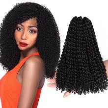 Kinky-Hair Crochet-Braids Jerry Curl Passion Twist Synthetic Ombre 12inch Bob 8 for Women