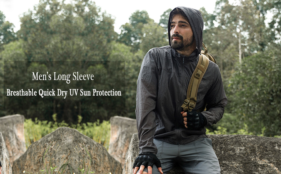 Outdoor Sports  Sun Protection Windproof Thin Clothes Soft Shell Tactical Long Sleeve Men and Women