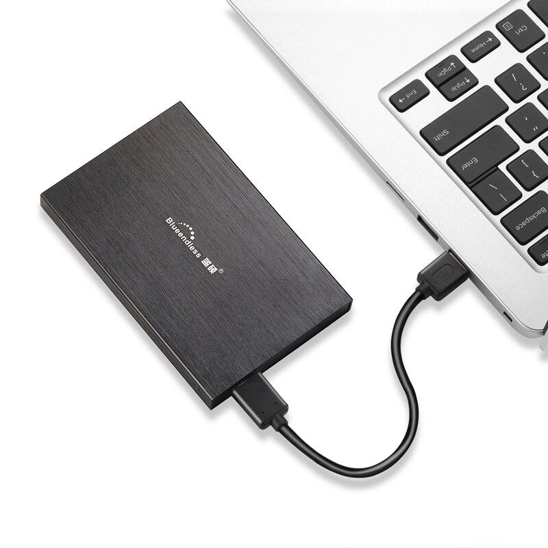 Disque dur externe Portable blueinfinity 750 gb/2 to USB2.0 hd périphériques de stockage externo disque dur pour ordinateur de bureau et ordinateur Portable 1 to