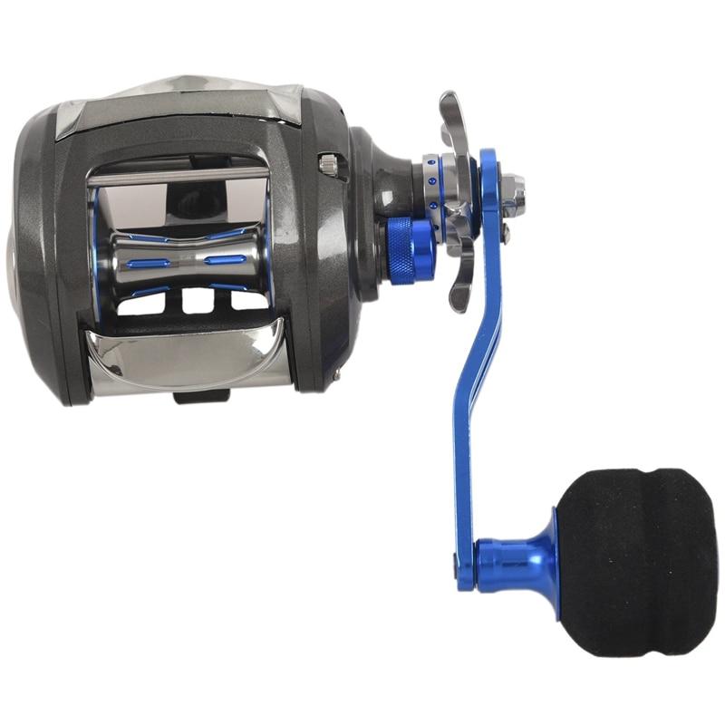 Bobine de moulage d'appât à secousse lente 12 + 1Bb roue de gabarit Max glisser 11Kg rapport de vitesse de roue de bateau 7.0: 1 moulinet de pêche au leurre-droite