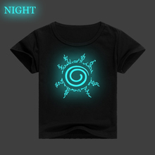 Luminous Naruto Children T-shirt Sasuke / 3D  children clothes baby boy girl casual short-sleeved