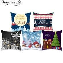 Fuwatacchi Christmas Style Cushion Cover Cute Cartoon Animal Pillow Home Sofa Car Decorative Throw Pillowcase 45x45cm