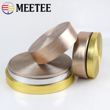 Meetee 5M 5-30mm Width Synthetic PU Leather Ribbon Gold Silver Bag Cords DIY Clothing Jewelry Decor Bows Band Necklace Material