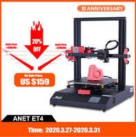Новый Anet A8 Plus ET4 3D принтер высокой точности Impresora 3D все металлические DIY Набор Imprimante 3D принтер Anet магазин фабрики